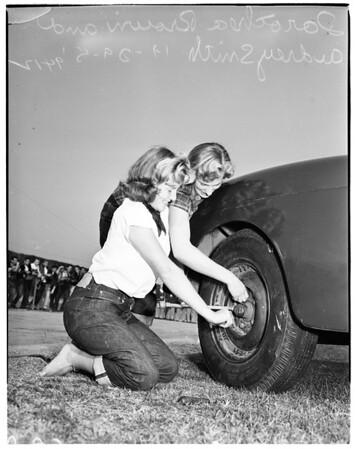 Hot rod jamboree at Hamilton High School, 1951