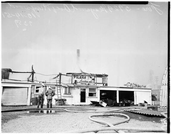 Maywood furniture fire, 1951