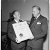 Honor ten (25 years) servicemen in California Highway Patrol, 1951