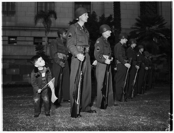 Armistice Services ...City Hall, Los Angeles, 1951