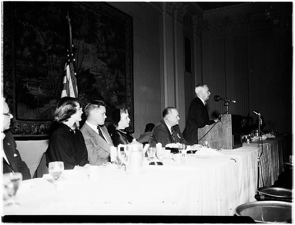 Republican Dinner... Biltmore Hotel, 1951