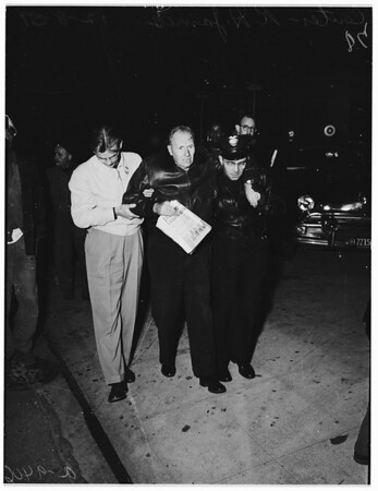 Two-car crash (Jefferson Boulevard and Figueroa Street), 1951