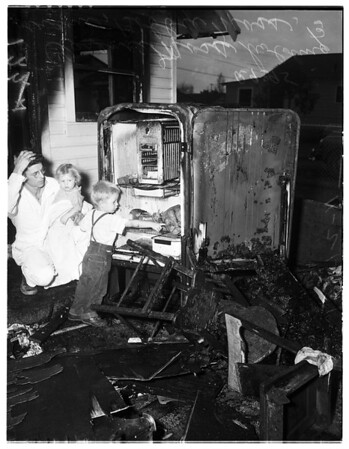 Baby burned in fire, 1951