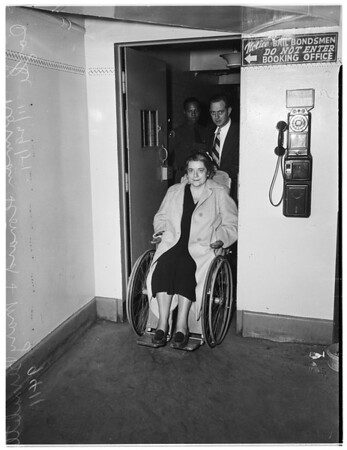 Suspected communist leader released from County Jail because of illness, 1951