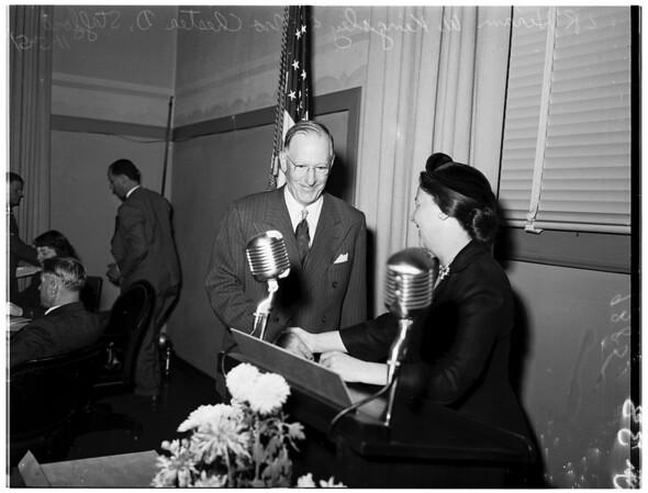 New school board member, 1951
