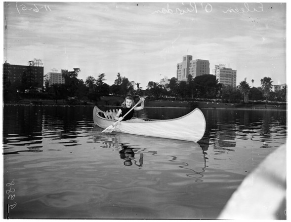 Hot weather picture at MacArthur Park, 1951