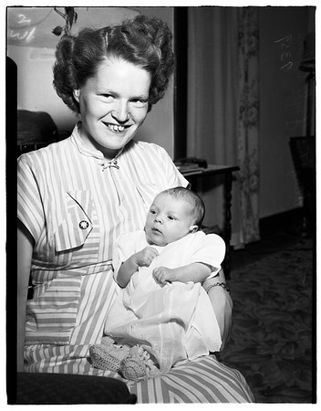 Baby...father overseas, 1951