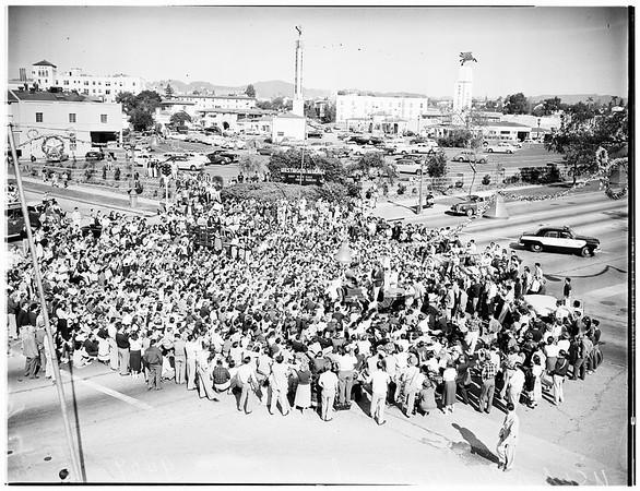 Football ...University of California, Los Angeles rally, Westwood, 1951