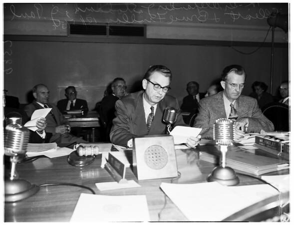 Board of Education meeting, 1951