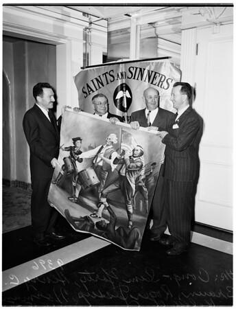 Saints and Sinners Club at Ambassador Hotel, 1951