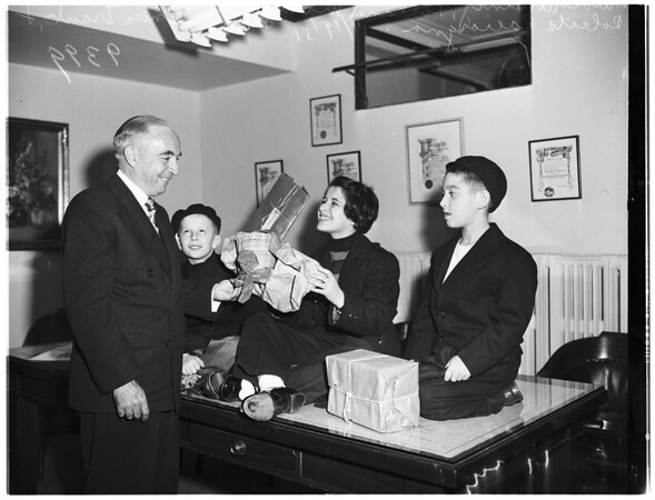 War orphans on visit to the United States, raising funds, 1951