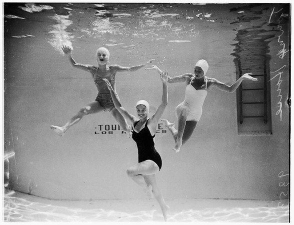 Swimmers at Town House, 1951