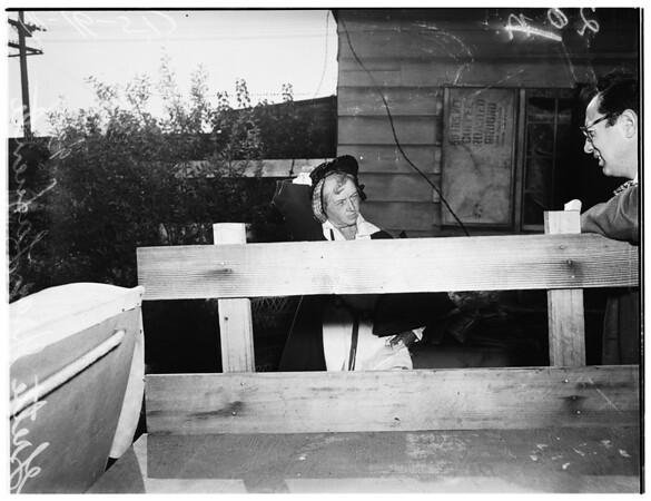 Mother of captured psychopath, 1951
