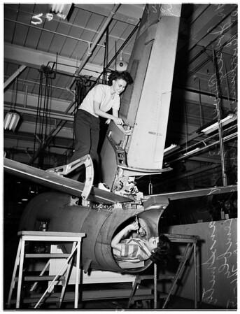 """Rosie the Riveter"" ...Lockheed Aircraft, 1951"
