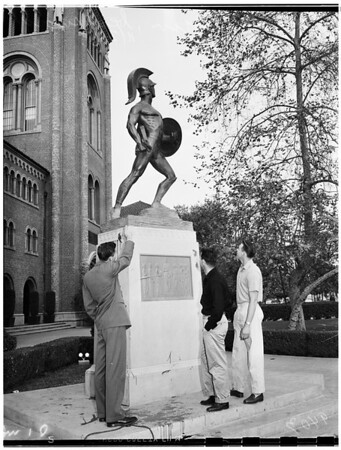 Tommy Trojan (with bent sword), 1951