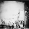 Fire ...paper tube company burns... Slauson Avenue and Budlong Avenue, 1951