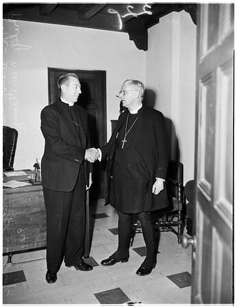 New Guinea Episcopal Bishop visits Los Angeles, 1951