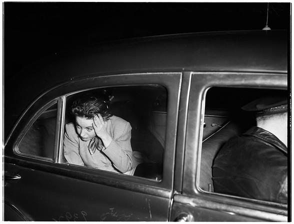 Beverly Hills ex-Mayor's daughter arrested for drunken driving, 1951