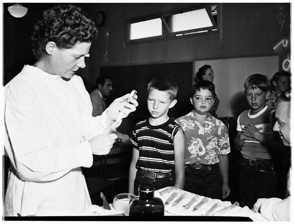 School children immunized (Pacific Palisades Elementary School, 1951