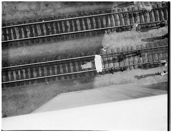 Suicide... jumped off bridge, 1951