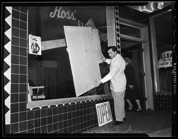 Barber shop picketed at 2213 Atlantic Avenue, 1951