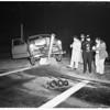 Auto hits lamppost (No Address), 1951