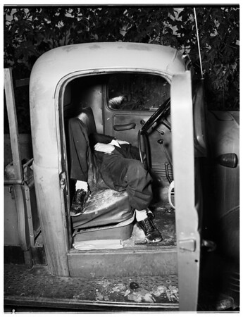 Suicide ...Rear of 5200 South Huntington Drive, 1951