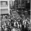 Christmas crowds at 7th Street and Broadway West Intersection, 1951