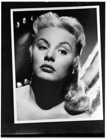 Two copy negatives of Barbara Payton (Mrs. Franchot Tone) 1951