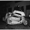 Traffic accident... auto versus truck at Eleventh Street and San Pedro Street, 1951