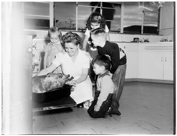 Thanksgiving... Day Nursery turkey dinner, 1951