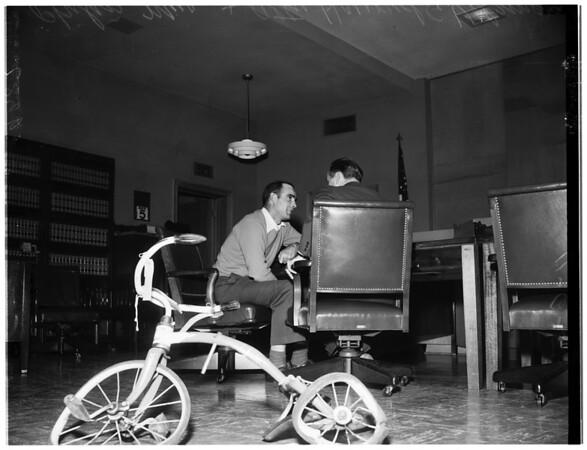 Hit and run killer sued, 1951