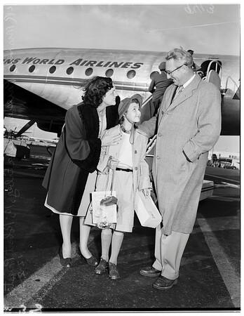 War orphan arrival, 1951