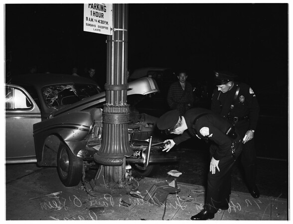 Traffic accident at 2040 Highland Avenue, 1951