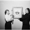 ORT Art display in Beverly Hills...Hanging painting by General...,  1951
