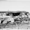 Jet plane tank falls...starts fire, 16502 Parthenia Avenue, Sepulveda, California, 1951
