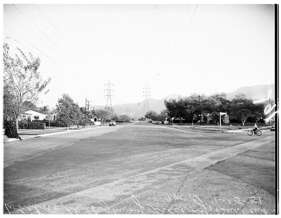 Freeway...Whitnall Highway freeway at Burbank, 1951