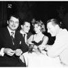 Nick Hilton and fiance at the Mocambo night club, 1951