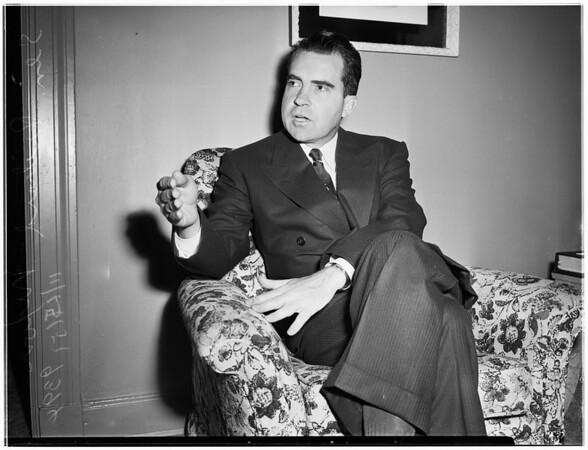Interview at Ambassador Hotel, 1951