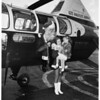 Santa Claus arrives, helicopter on Terminal Annex, 1951