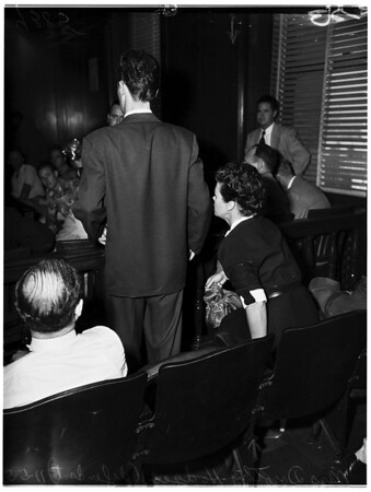 Court marijuana hearing, 1951
