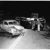 Highway Patrol car in crash (Highway 101 and Malibu Road), 1951