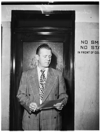 Deputy Sheriff suspended for spraying drunks with carbon-dioxide, 1951