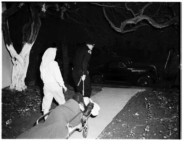 Jealous wife shoots husband...West Fifth Street, 1951