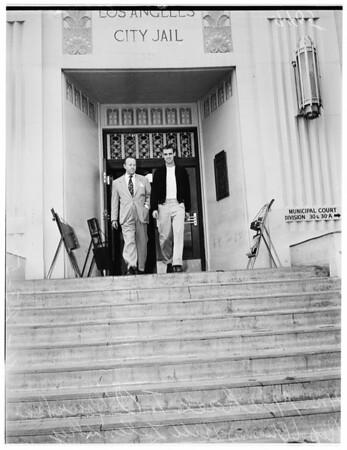 In jail, 1951