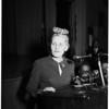 "Woman industrialist and organizer of ""Liberty Belles"", addresses Breakfast Club, 1951"