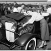 Hot rod jamboree at Hamilton High School, 1951