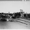 Truck turned over on Forest Lawn Drive, 1951