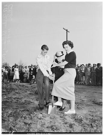 Franklin S. Whaley Junior High School at Compton ...Groundbreaking, 1951