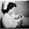 Baby abandoned in Van Nuys...Found in front of home, 1951